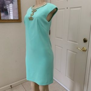 """VINCE CAMUTO"" mint green dress w/embellishments"